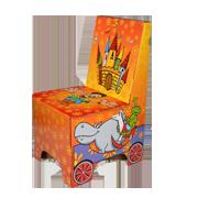 Dětská židle skládací z kartonu